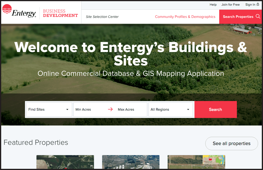 Entergy Launches Revamped Online 'Site Selection' Tool • Innovate  Mississippi