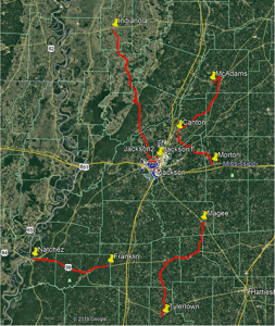 Map of C Spire and Entergy fiber installation