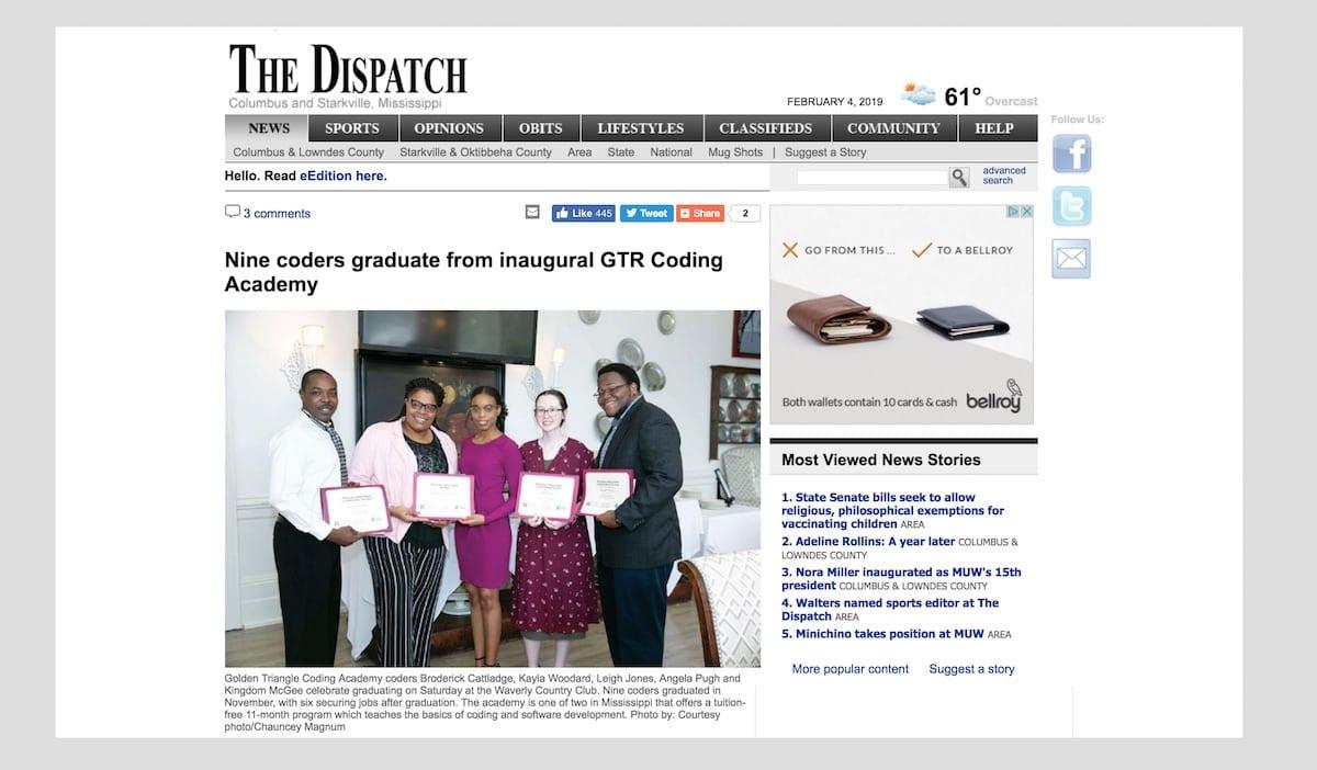 Columbus Dispatch: Coding Academies Combat 'Brain Drain'