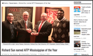 "MBJ: Richard Sun Named ""Mississippian of the Year"" By AITP"
