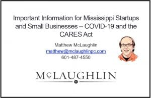 Matthew McLaughlin - COVID-19 Webinar